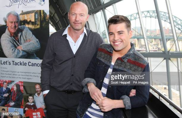 Alan Shearer and Joe McElderry at the announcement in Gateshead of Sir Bobby Robson A Celebration an event at the Sage in February to raise funds for...