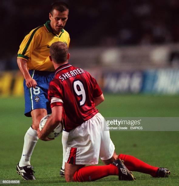 Alan Shearer England and Dunga Brazil