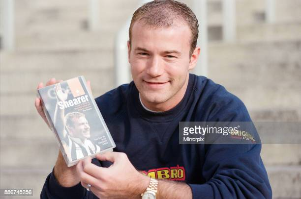 Alan Shearer launches his new video 'Simply Shearer' at Newcastle United, 24th October 1997.