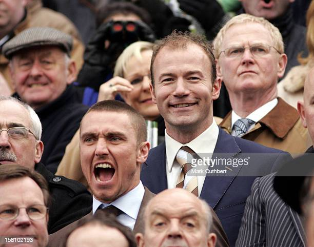 Alan Shearer Lee Clark Attend Day One Of The Cheltenham Festival Race Meeting