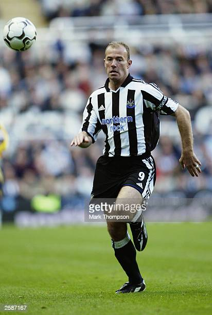 Alan Shearer of Newcastle United chases the ball during the FA Barclaycard Premiership match between Newcastle United and Southampton at St James...