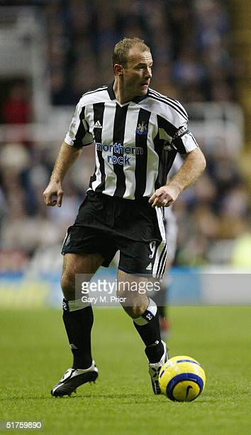 Alan Shearer of Newcastle United during the FA Barclays Premiership match between Newcastle United and Manchester United at St James's Park on...