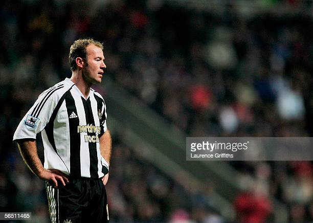 JANUARY 02 Alan Shearer of Newcastle United reacts during the Barclays Premiership match between Newcastle United and Middlesbrough on January 2 2006...