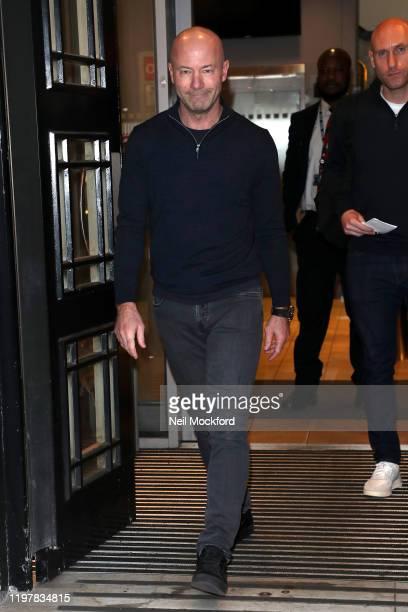 Alan Shearer seen at BBC Radio 2 on January 06, 2020 in London, England.