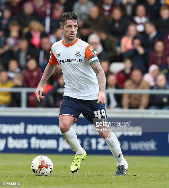 Alan Sheehan of Luton Town in action during the Sky Bet League Two match between Northampton Town and Luton Town at Sixfields Stadium on April 30...