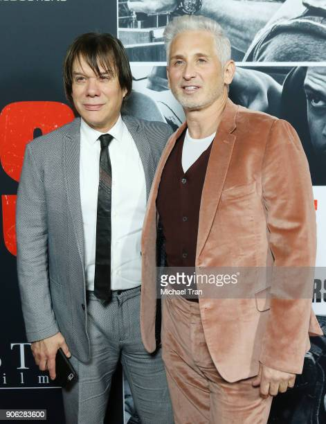 Alan Siegel and David Meister arrive to Los Angeles premiere of STX Films' 'Den Of Thieves' held at Regal LA Live Stadium 14 on January 17 2018 in...