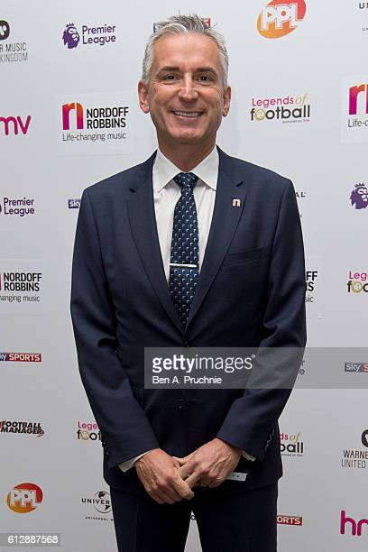 Alan Smith attends the 21st Legends of football event to celebrate 25 seasons of the Premier League and raise money for music therapy charity Nordoff...
