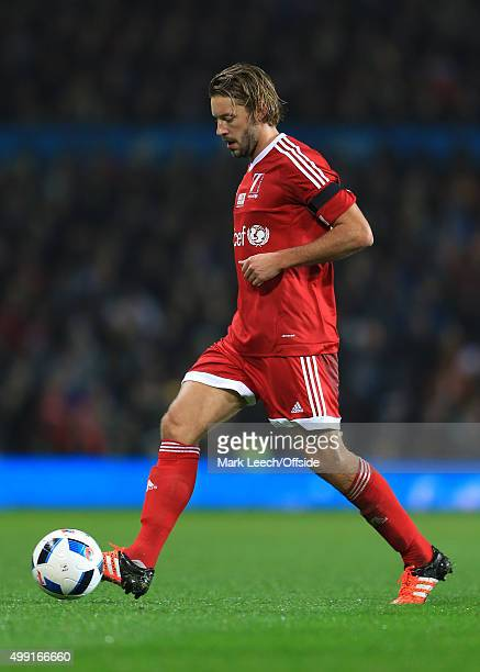 Alan Smith of GB in action during David Beckham's Match For Children in aid of UNICEF between a Great Britain XI and a Rest of the World XI at Old...