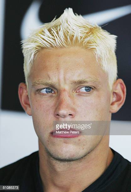 Alan Smith of Manchester United attends the press conference to unveil United's new signings Alan Smith and Liam Miller at Carrington Training Ground...