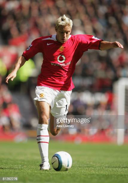 Alan Smith of Manchester United during the Barclays Premiership match between Manchester United and Everton at Old Trafford on August 30 2004 in...