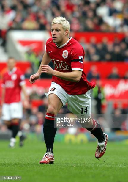 Alan Smith of Manchester United in action during the Barclays Premiership match between Manchester United and Bolton Wanderers at Old Trafford in...