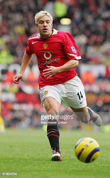 Alan Smith of Manchester United in action during the Barclays Premiership match between Manchester United and Charlton Athletic at Old Trafford on...