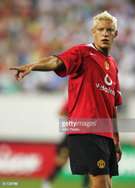 Alan Smith of Manchester United in action during the ChampionsWorld Series pre-season friendly match against Celtic, on July 29, 2004 at Lincoln...