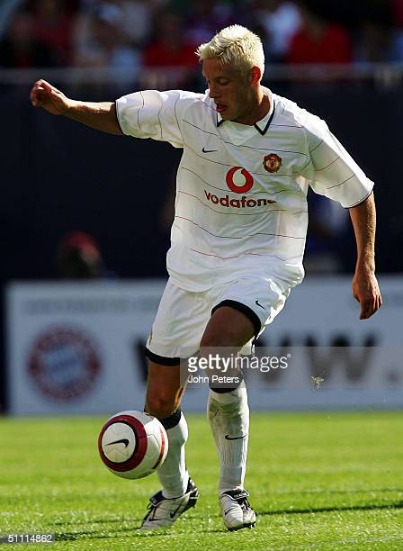 Alan Smith of Manchester United in action on his debut for the club during the Champions World Series preseason friendly match against Bayern Munich...