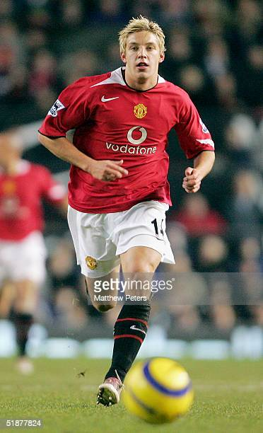 Alan Smith of Manchester United in action on the ball during the Barclays Premiership match between Manchester United and Crystal Palace at Old...