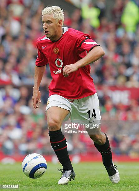 Alan Smith of Manchester United looks on during the Barclays Premiership match between Manchester United and Manchester City at Old Trafford on...