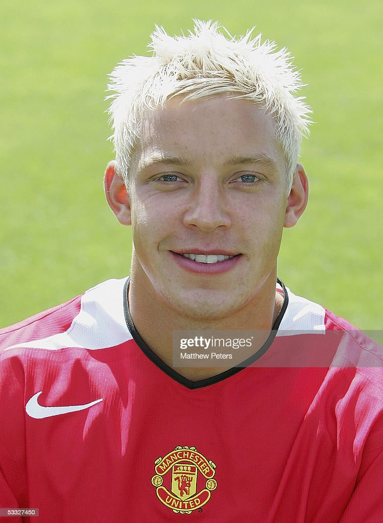 Alan Smith of Manchester United poses during the annual club photocall at Carrington Training Ground on 5 August 2005 in Manchester, England.