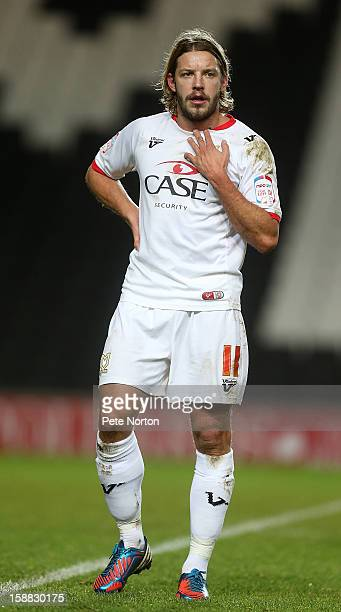 Alan Smith of Milton Keynes Dons in action during the npower League One match between Milton Keynes Dons and Walsall at Stadium mk on December 26...