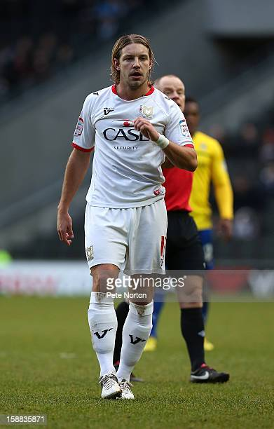 Alan Smith of Milton Keynes Dons in action during the npower League One match between Milton Keynes Dons and Coventry City at Stadium mk on December...