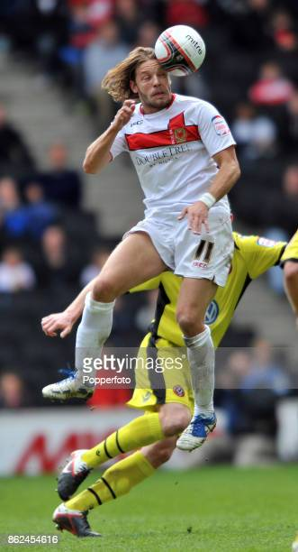 Alan Smith of Milton Keynes Dons in action during the nPower League One match between Milton Keynes Dons and Sheffield United at StadiumMK on April...