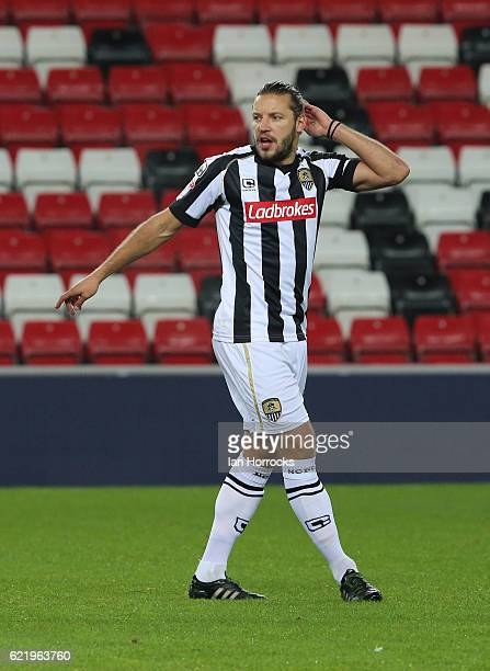 Alan Smith of Notts County during the Checkatrade Trophy group stage match between Sunderland and Notts County at Stadium of Light on November 9 2016...