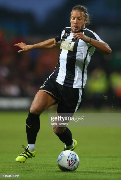 Alan Smith of Notts County in action during a preseason friendly match between Notts County and Nottingham Forest at Meadow Lane on July 19 2017 in...