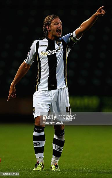Alan Smith of Notts County in action during the Pre Season Friendly match between Notts County and CA Osasuna at Meadow Lane on August 1 2014 in...