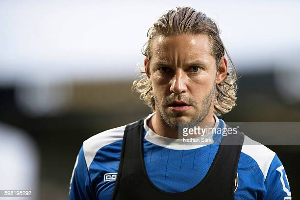 Alan Smith of Notts County looks on before the Checkatrade Trophy group match between Notts County and Hartlepool at Meadow Lane on August 31 2016 in...