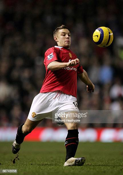 Alan Smith of United in action during the Barclays Premiership match between Manchester United and Fulham at Old Trafford on February 04 2006 in...