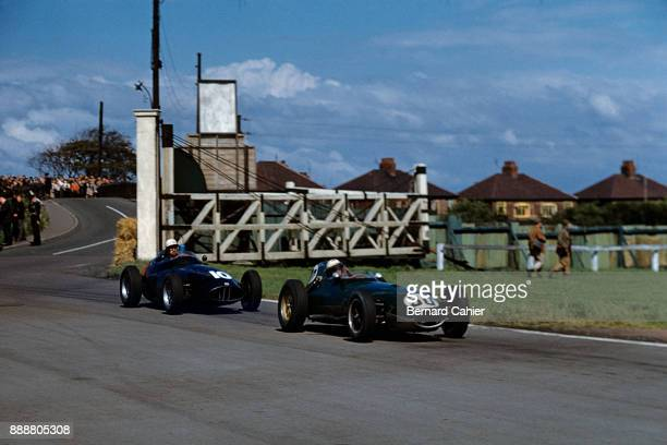 Alan Stacey Jo Bonnier LotusClimax 16 BRM P25 Grand Prix of Great Britain Aintree 18 July 1959