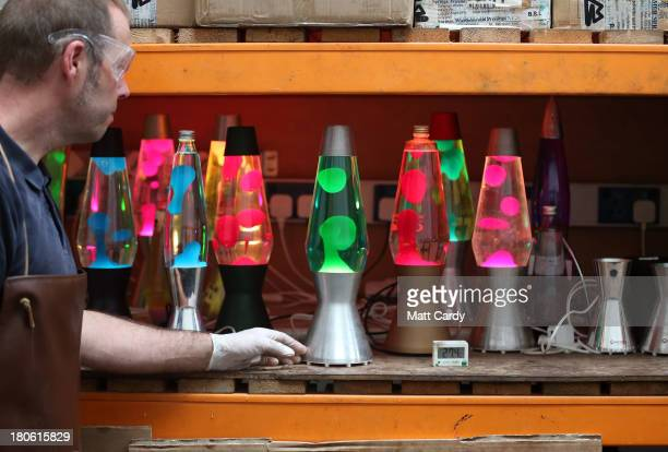 Alan Staton tests lava lamps at the Mathmos factory on September 12 2013 in Poole England The company based in Poole Dorset has been making the lava...