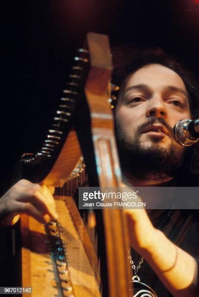 Alan Stivell en concert au Palais des Sports de Paris le 16 janvier 1975 France