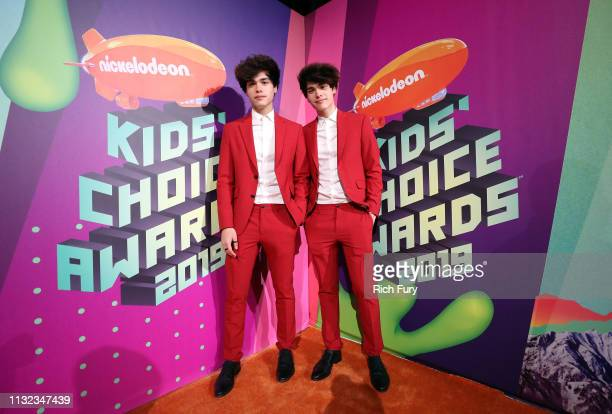 Alan Stokes and Alex Stokes attend Nickelodeon's 2019 Kids' Choice Awards at Galen Center on March 23 2019 in Los Angeles California