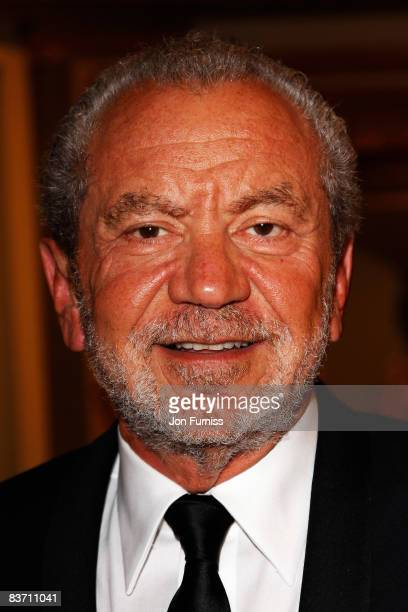 Alan Sugar arrives at the TV Quick TV Choice Awards Held at the Dorchester Hotel on September 8 2008 in London England