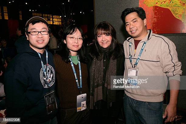 Alan T Chan WriterDirector Jennifer Phang Doreen Ringer Ross of BMI and Producer Reuben Lim attend the BMI Big Crowded Room Party at the Leaf Lounge...