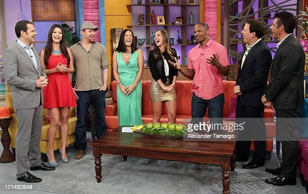 Alan Tacher Ana Patricia Gonzalez Channing Tatum Karla Martinez Maria Elisa Camargo Jamie Foxx and Raul Gonzalez appear on Univision's 'Despierta...