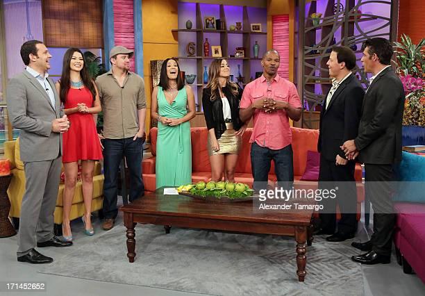 Alan Tacher Ana Patricia Gonzalez Channing Tatum Karla Martinez Maria Elisa Camargo Jamie Foxx Raul Gonzalez and Johnny Lozada appear on Univision's...