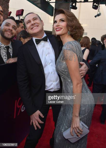 Alan Tacher and Cristina Bernal attend the 19th annual Latin GRAMMY Awards at MGM Grand Garden Arena on November 15 2018 in Las Vegas Nevada
