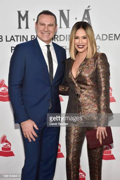 Alan Tacher and Karla Martinez attend the Person of the Year Gala honoring Mana during the 19th annual Latin GRAMMY Awards at the Mandalay Bay Events...