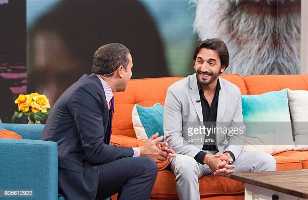 Alan Tacher and Lucas Quintana are seen on the set of Univisions Despierta America to promote The Vessel at Univision Studios on September 14 2016 in...