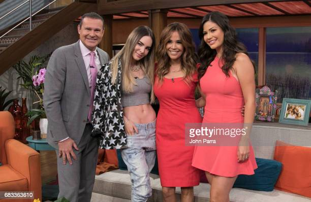 Alan Tacher Belinda Karla Martinez and Ana Patricia Gonzlez are seen at Univision's 'Despierta America' to promote the film Batwatch on May 15 2017...