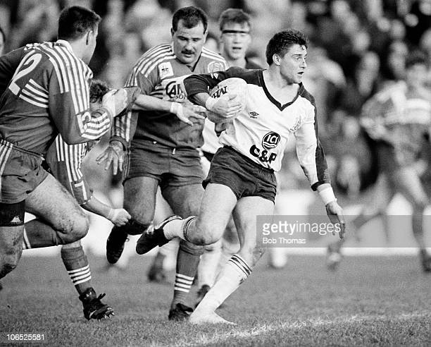 Alan Tait in action for Widnes against Salford during a Rugby League match in Salford on 29th January 1989 Widnes beat Salford 1814