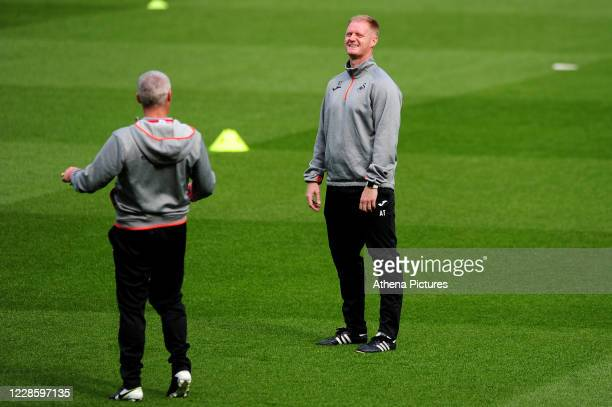 Alan Tate First Team Coach of Swansea City during the Sky Bet Championship match between Swansea City and Birmingham City at the Liberty Stadium on...