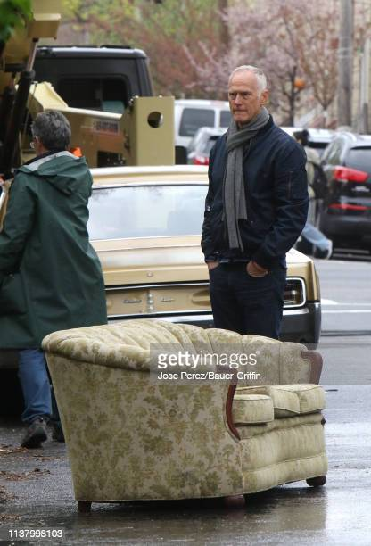 Alan Taylor is seen on the set of The Many Saints of Newark on April 18 2019 in New York City