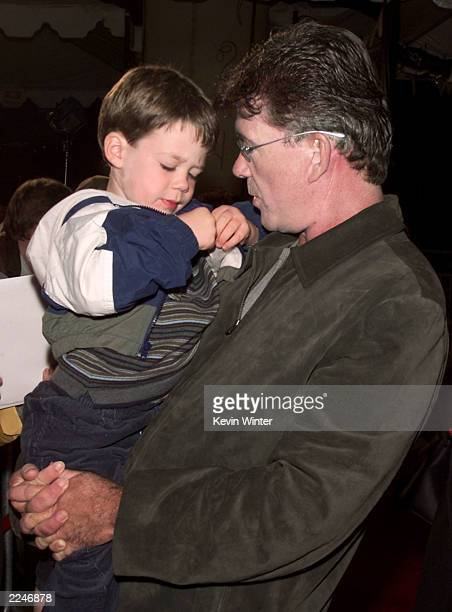 Alan Thicke and his son Carter at the premiere of 'Joseph King of Dreams' DreamWorks' firstever animated musical featurelength movie to debut on VHS...