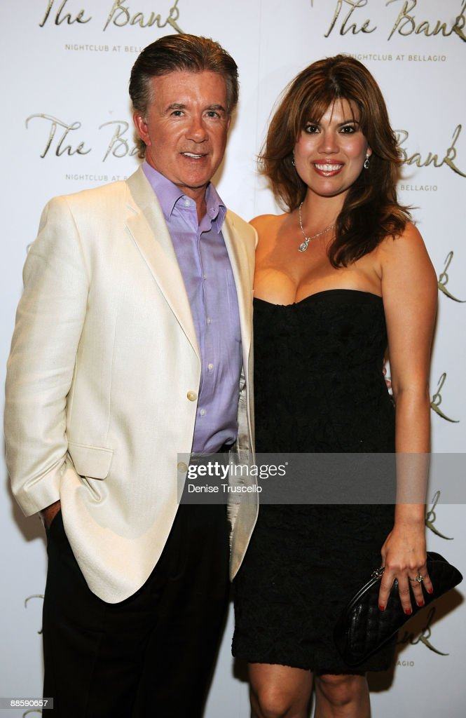 Alan Thicke (L) and Tanya Thicke arrive at The Bank nightclub at Bellagio Las Vegas on June 19, 2009 in Las Vegas, Nevada.