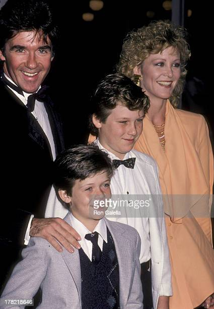 Alan Thicke sons Brennan Thicke and Robin Thicke and Joana Kerns attend 16th Annual People Choice Awards on March 11 1986 at the Universal...
