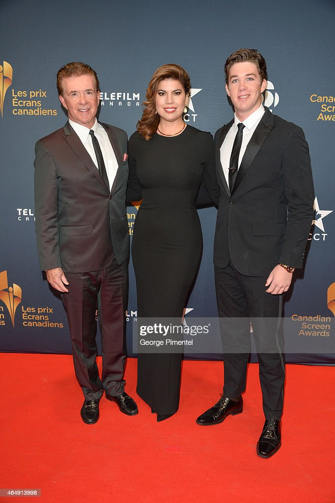 Alan Thicke, Tanya Thicke and Carter Thicke arrive at the 2015 Canadian Screen Awards at the Four Seasons Centre for the Performing Arts on March 1, 2015 in Toronto, Canada.