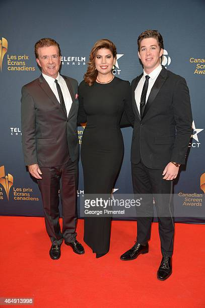 Alan Thicke Tanya Thicke and Carter Thicke arrive at the 2015 Canadian Screen Awards at the Four Seasons Centre for the Performing Arts on March 1...