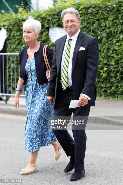 Alan Titchmarsh attends day 9 of the Wimbledon 2019 Tennis Championships at All England Lawn Tennis and Croquet Club on July 10 2019 in London England